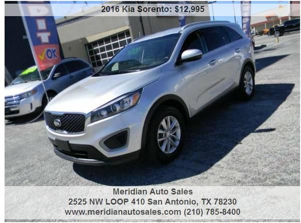 Photo 2016 KIA SORENTO LX, SUPER NICE SUV, LOOK - $11,995 (2525 NW LOOP 410 SAN ANTONIO TX www.meridianautosales.com)