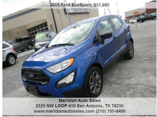 Photo 2018 FORD ECOSPORT S 4DR, SUPER NICE  ECONOMIC SUV, LOOK - $12,500 (2525 NW LOOP 410 SAN ANTONIO TX www.meridianautosales.com)