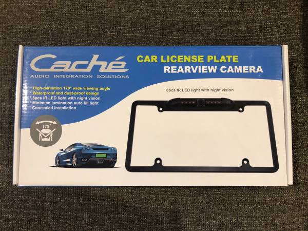Photo Cache High Quality License Plate Frame Backup Camera With Night Vision - $25 (Live Oak)