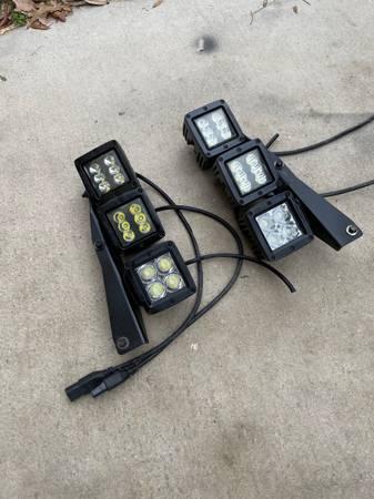 Ford Raptor triple LED fog lights with bracket - $150 (North 281)