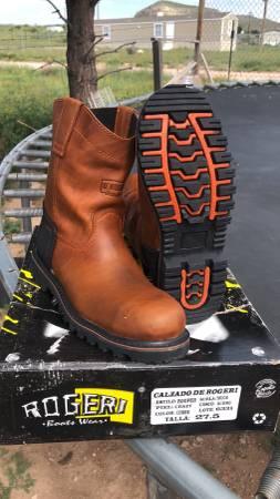 Photo Mens Work Boots Steel Toe 8.5 - $70 (El Paso deer mountain)