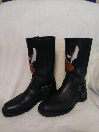 Photo REDUCED - Harley Davidson Men39s Darren Harness Boots - $100 (San Antonio)