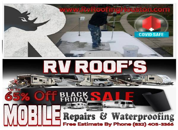 Photo RV ROOF black friday sale MOBILE repairs  coatings COVID SAFE - $1 (San Antonio)
