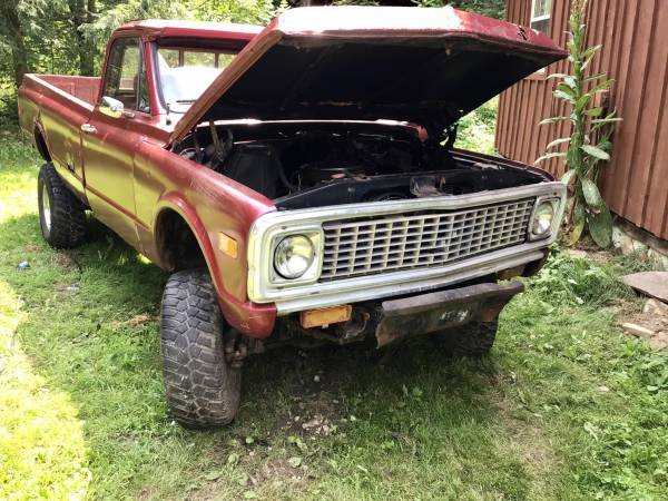 Photo 1971 Chevy parts only - $1,600 (Pitcher, New York)