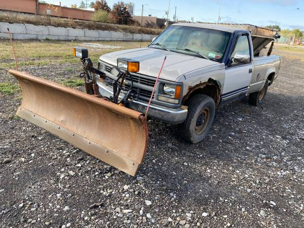 Photo 1996 Chevy 3500 Truck with Plow and Salt Spreader - $2,700 (Endicott)