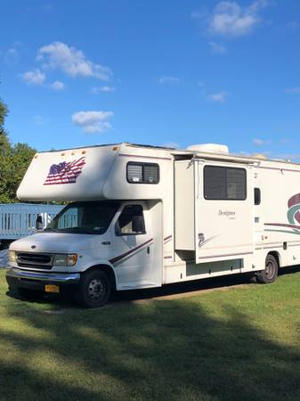 Photo 2000 Jayco Designer, 32, Ford E450, New Tires, Needs Roof Repaired - $8,950 (Owego)