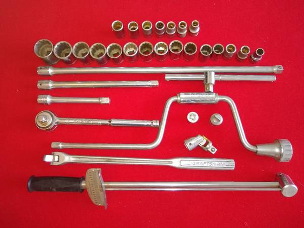 Photo 38 Craftsman Socket Set w Torque Wrench - $175 (Owego)