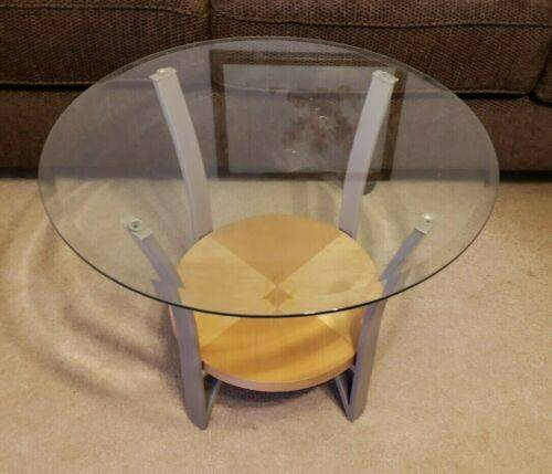 Photo 3 Piece Coffee Table  End Table Set Wood Glass Metal Mint NEVER USED - $250 (Binghamton)
