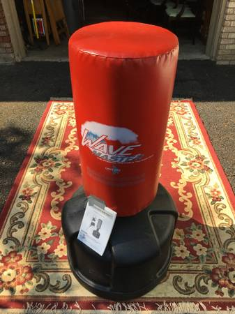Photo Century Wave Master training heavy bag. Adjustable height and fillable - $100 (BINGHAMTON)