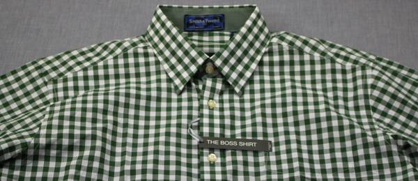 Photo NEW Smith  Tweed Men Green White Gingham Checker SIZE M LS Shirt - $15 (Binghamton)