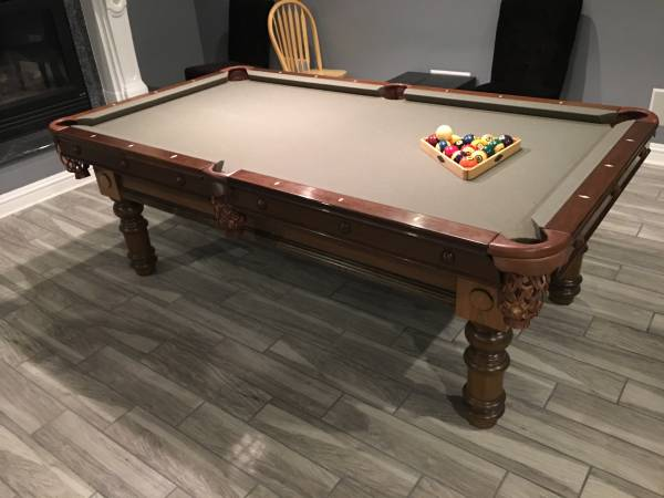 Photo Pool Table Moving and Reclothing