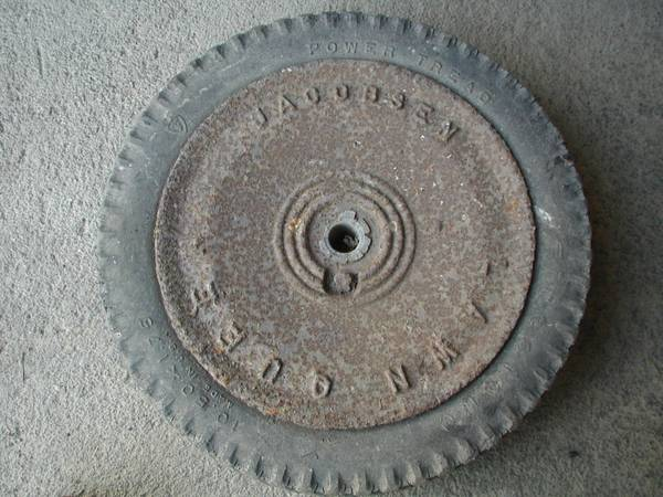 Photo Wheel for a Vintage Jacobsen Lawn Mower - $5 (Binghamton)