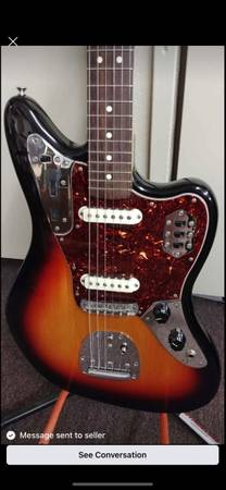 Photo fender jaguar guitar - $900 (Elmira)