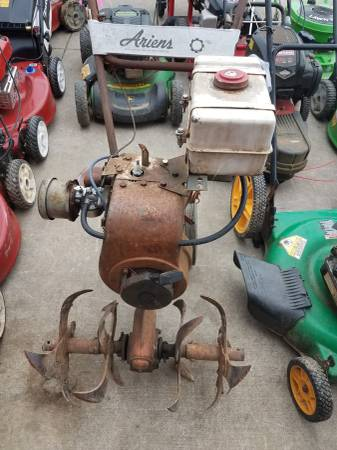 Photo Ariens front tine tiller wTecumseh H50 motor - for parts or rebuild - $23 (Blacksburg)
