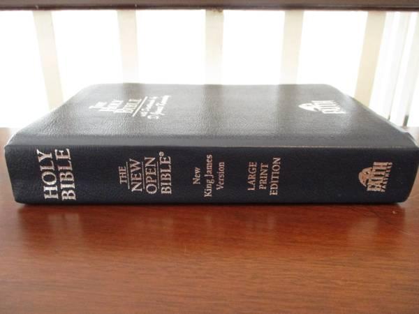 Photo Beautiful Rare, New Open Bible Study Edition, Leather, Mint. Cond. - $325 (Lynchburg, VA)
