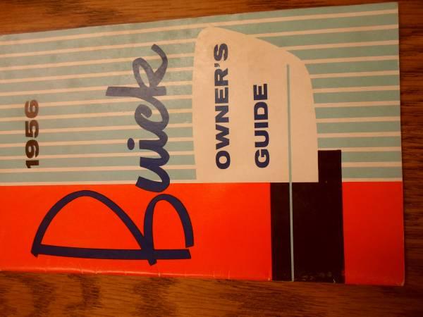 Photo owners manual 1956 buick - $20 (dublin)