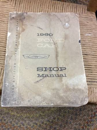 Photo 1960 FORD CARS SHOP MANUAL - $10 (BOONE)