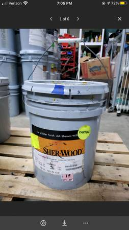 Photo 5 Gallon Bucket Sherwin-Williams SHER-WOOD Pigment Concentrate H Yello - $25 (Mooresville)