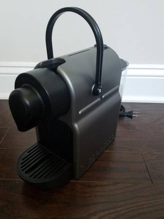 Photo Coffee Machine Nespresso Model C40 Gray Black - $60 (South Charlotte)