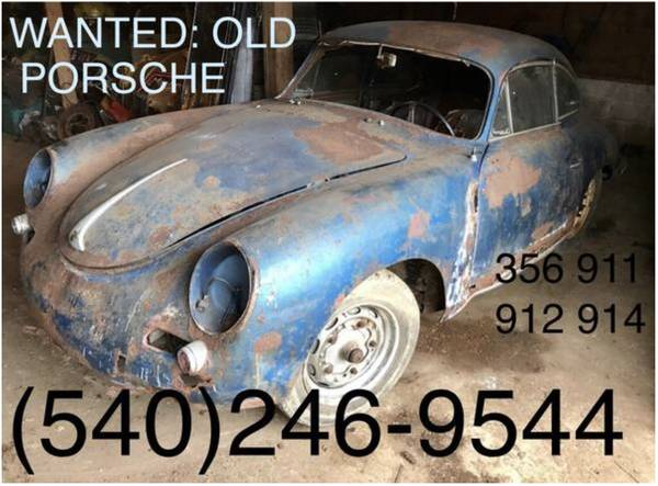 Photo I Buy Old Porsche 356 911 912 cleanouts clips parts car rust 993 964 (no bs same day appt. i tow load myself on time no bs)