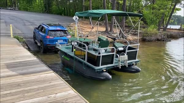 Photo Mini Pontoon Boat - $7,500 (Rural Hall)