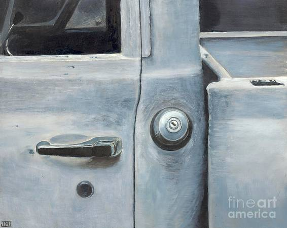 Photo Original Oil Painting, Chevy C10, by Ashe County artist Jackie Irwin - $65 (Jefferson)