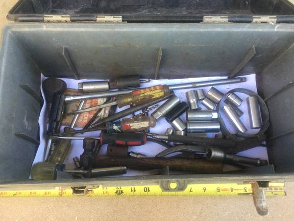 Photo Tool Box with Tools - $15 (West Asheville)