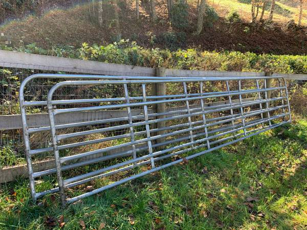 Photo Two 20 foot Galvanized Pasture Gates. - $200 (Creston)