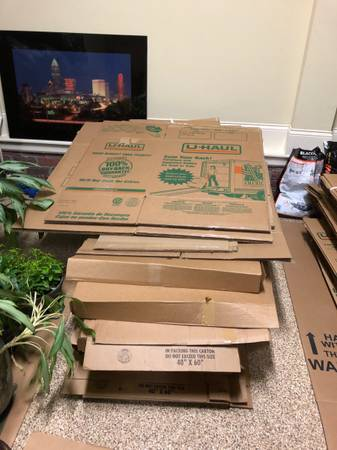 Photo U-Haul boxes and wrapping paper (Mint Hill)