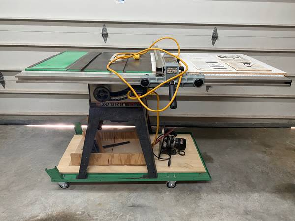 Photo Vintage Craftsman 10quot contractor table saw with pro mods - $450 (Fort Mill)