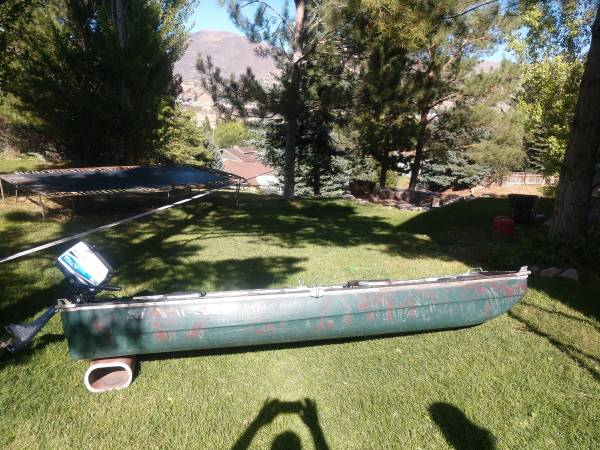 Photo 10.5ft Coleman Jon Boat with motor - $500 (Pocatello)