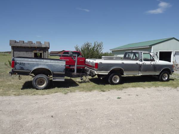 Photo 1990 ford F150 with box trailer and lift - $6,000 (Ennis)