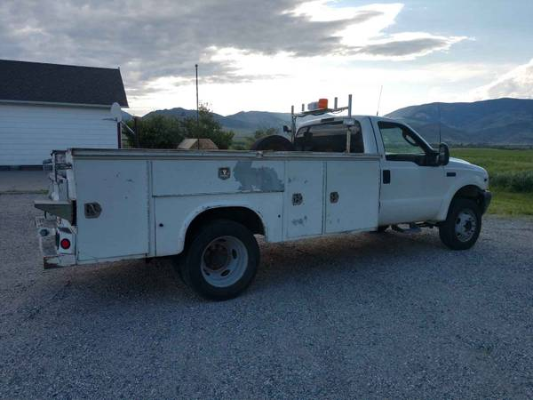 Photo 2004 Ford F450 4X4 Utility Bed Snow plow, snowplow, $6900 - $6900 (Livingston)