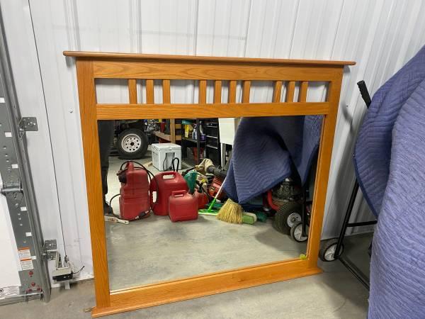 Photo Free Oak Dresser Mirror (Big Sky)