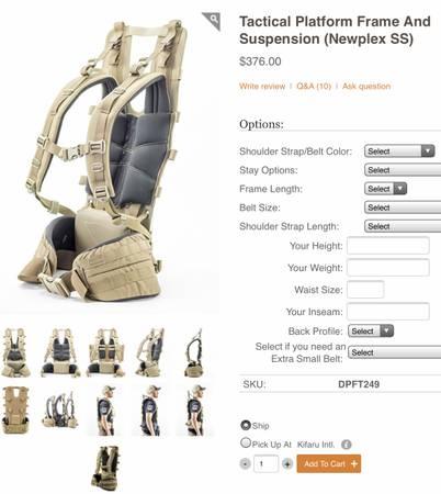 Photo Kifaru Fulcrum backpack - $650 (Belgrade)