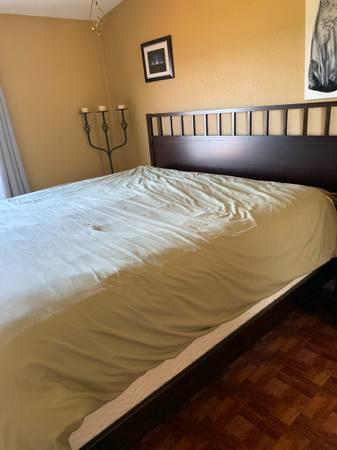 Photo King Size Bed Frame and Mattress - $200 (Bozeman)
