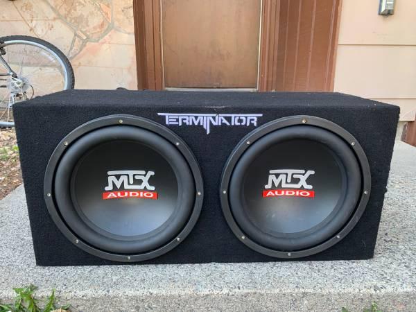 Photo MTX Terminator 2x12quot Subwoofers and Rockford Fosgate Amplifier - $200 (Bozeman)