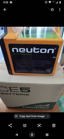Photo Neuton Rechargeable Battery for Mower - $110