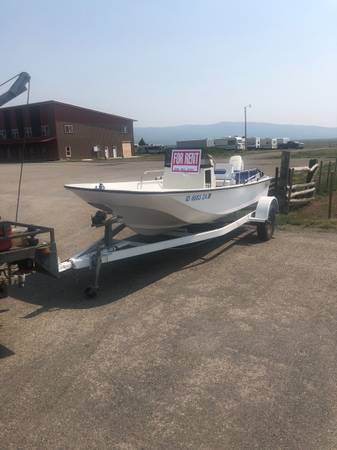 Photo Pontoon boats and Boston whaler fishing boats for rent or sale - $400 (Island park Idaho)