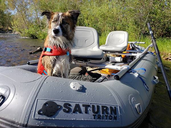 Photo Saturn Triton Whitewater Raft w3-Seat NRS Frame Guide Fishing Package - $4400 (Eagle)