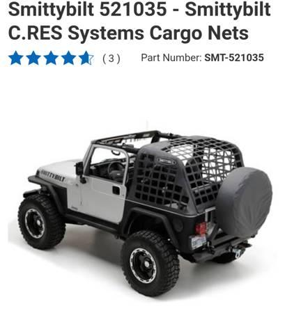 Photo Smittybilt cargo net for 92-95 (yj) jeep - $40 (Ennis)
