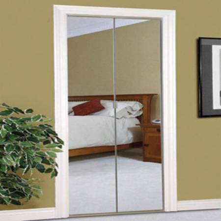Photo White Steel Frameless mirrored bifold closet doors - $30 (Livingston)