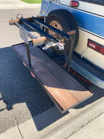 Photo needs to go ASAP- storage trailer hitch (for van, rv, truck etc.) - $50 (Livingston, MT)