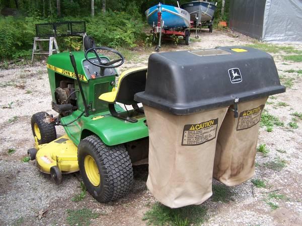 Photo 116 John deere mower with powerflow bagger - $1,234 (Crosby)