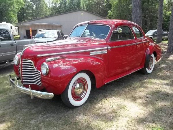 Photo 1940 Buick Super Series 50 Coupe. Fresh Resto - $27,950 (red pine motors, outing mn)