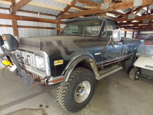 Photo 1972 Chevrolet Chyenne C-20 402 matching number Truck Pick up 34 ton - $14,500 (Backus)