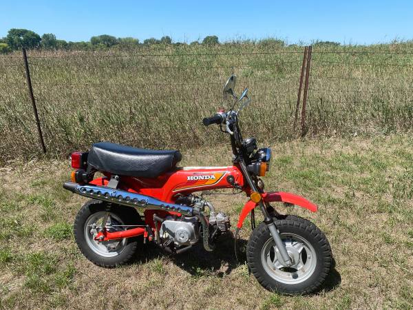 Photo 1980 Honda Mini Trail 70 ( CT70 ) with LOW MILES and CLEAN TITLE - $2,200 (Coon Rapids)