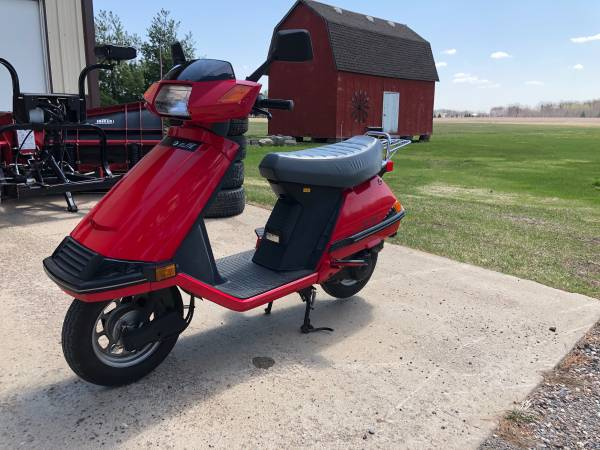Photo 1986 Honda CH80 moped scooter only 1450 miles - $1,250 (Pine City)