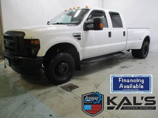 Photo 2009 Ford F350 XL 4WD crew cab dual rear wheel diesel truck - $12890 (Wadena)