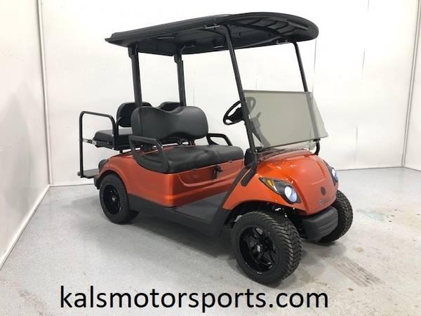 Photo 2014 Yamaha Gas Golf Cart Street Legal - Sunburst Orange - $5650 (Wadena)